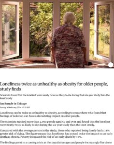 Loneliness Twice As Unhealthy As Obesity For Older People Study Finds Science The Guardian Little Sisters Of The Poor