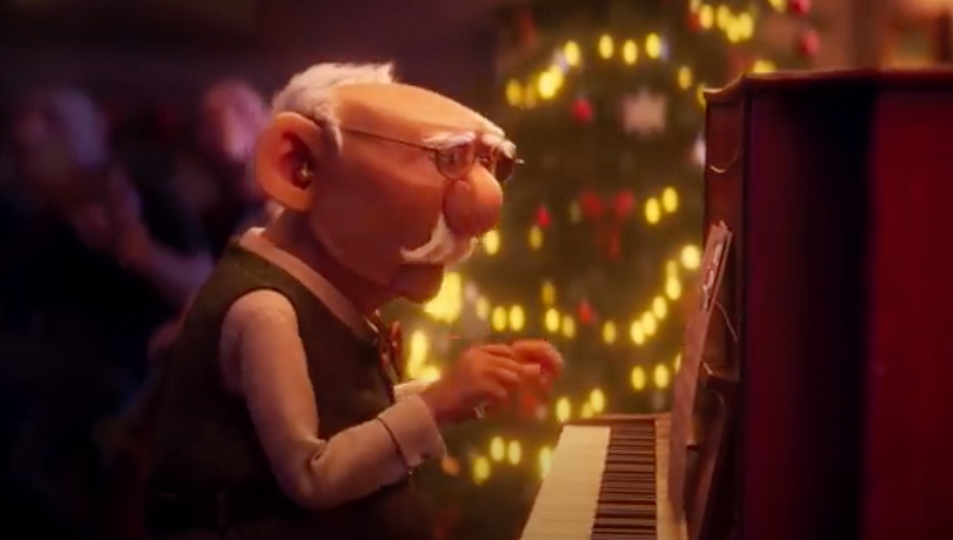 The elderly are featured in Christmas ads once again